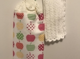 Tea Towel Topper with apples in many colours (white topper)