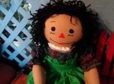 "20"" Caramel Raggedy Ann Handmade Dolls with Black hair"
