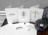 5pk Hanukkah Greeting Cards | Modern | Minimalistic | Cards