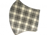Gray & Black Plaid Face Mask