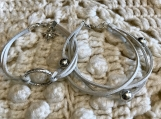 Holiday Bracelets - Grey Suede Set with charm