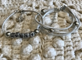 Holiday Bracelets - Grey Suede Set - Holly