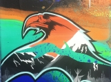 Love, Eagle, Fluorescent, Glowing Indigenous Painting, Acrylic on Canvas