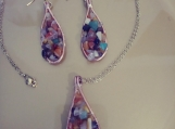Tears of Stone Necklace and Earrings Set