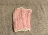 Fingerless Gloves (Pale Pink/White Trim)