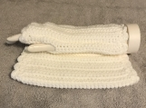 Fingerless Gloves (White)