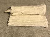 Fingerless Gloves (White)