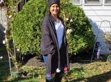 Black Fleece Shawl & Hat