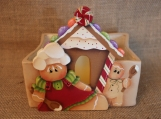Gingerbread Bakers House Luminary