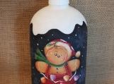 Gingerbread Lotion/Soap Dispenser  (Blue)