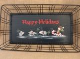 Happy Holidays Wire Tray