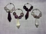 Faux Crystal Wine Charms - Set of 4