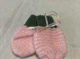 Mittens Green and Pink for babies