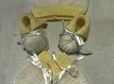 Baby set Pale yellow and White