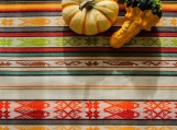 Handwoven Inca Wall Decor, Boho Table Runner (cr??me multicolore)