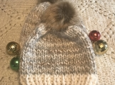 Like Mother Like Child Beanie Set - Cream and Grey