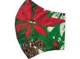 Poinsettia 3 Face Mask