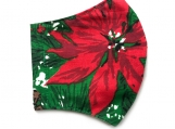 Poinsettia 5 Face Mask