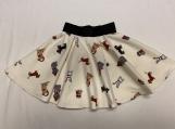 4/5 - Girls Holiday Dogs Twirl Skirt