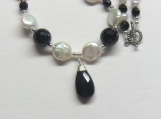 Basic Black A Japanese Unio Freshwater Pearl and Black Onyx Necklace