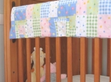 Quilted Fabric Crib Rail Guard Protector Tutorial TM