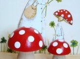 Red Mushroom Pair