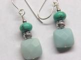 Study in Blue the Earrings Amazonite/Turquoise earrings