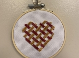 Beaded Weaved Heart Cross Stitch Kit