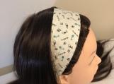 Cat Paws Tartan Tie on Headband