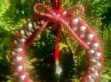 Christmas wreath / ornament with tree