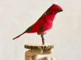 Mistletoed Caroller Bird Ornament