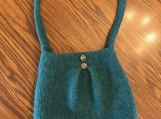 Pleated Felted Purse