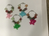 Fish Wine Charms pkg of 4