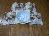 Floral Pansy Print / yellow Bowl Cozies set of 2