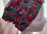 Multi-color Slouchy Crochet Beanie Hat Women Men