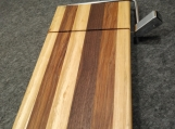 Ash, Walnut and Hickory Wire Cheese Slicing Boardrd
