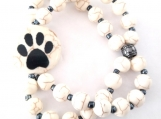 Charming Pet-Themed Double Strand Stretch Bracelet