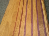 Cherry Edge Grain Cutting Board with Padauk and Purple Heart accents