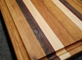 Cherry, Maple, Walnut and Padauk Edge Grain Cutting Board Large