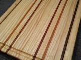 Handmade Ash, Cherry, Walnut and Padauk Edge Grain Cutting Board w Blood Ring