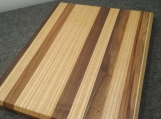 Handmade Ash, Hickory and Walnut Edge Grain Cutting Board