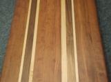 Handmade Cherry, Walnut and Maple Edge Grain Cutting Board