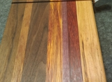 Handmade Cherry, Walnut, Sapele, Canarywood, Purple Heart and Padauk wire Cheese Slicing Board