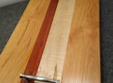 Handmade Figured Maple, Padauk and Cherry Serving Tray
