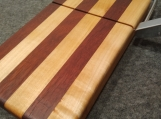 Handmade Maple and Padauk Wire Style Cheese Slicing Board