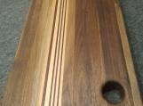 Handmade Walnut, Maple and Padauk Edge Grain Cutting Board/Chopping Block