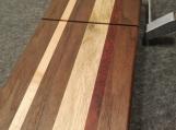 Handmade Walnut, Maple and Padauk Wire Cheese Slicer Board
