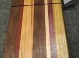Handmade Walnut, Maple,Padauk, Cherry, Purple Heart and Canarywood wire Cheese Slicing Board