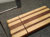 Walnut and Ash Wire Style Cheese Slicer