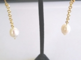 Exquisite Dangling Earrings with Freshwater Pearls